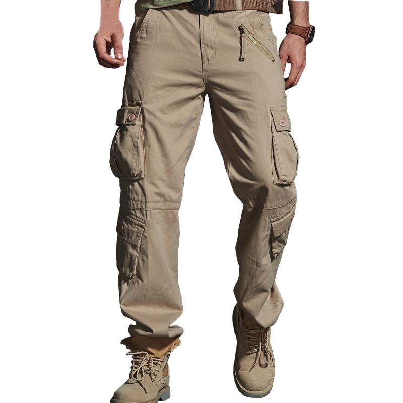 2019 Frühling Heißer Taktische Mens Cargo Hosen Baumwolle Casual Multi-pocket Military Männer Hosen Pantalon Homme Abz217 HüBsch Und Bunt