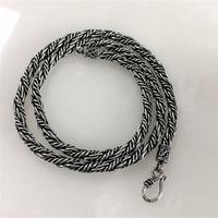 9f0b6317e043 Solid Pure Sterling Silver 925 Woven Chain Mens Chunky Necklace Oxide Thai  Silver Cool Simple Design. Sólido puro de Plata Ley 925 cadena tejida hombre  ...