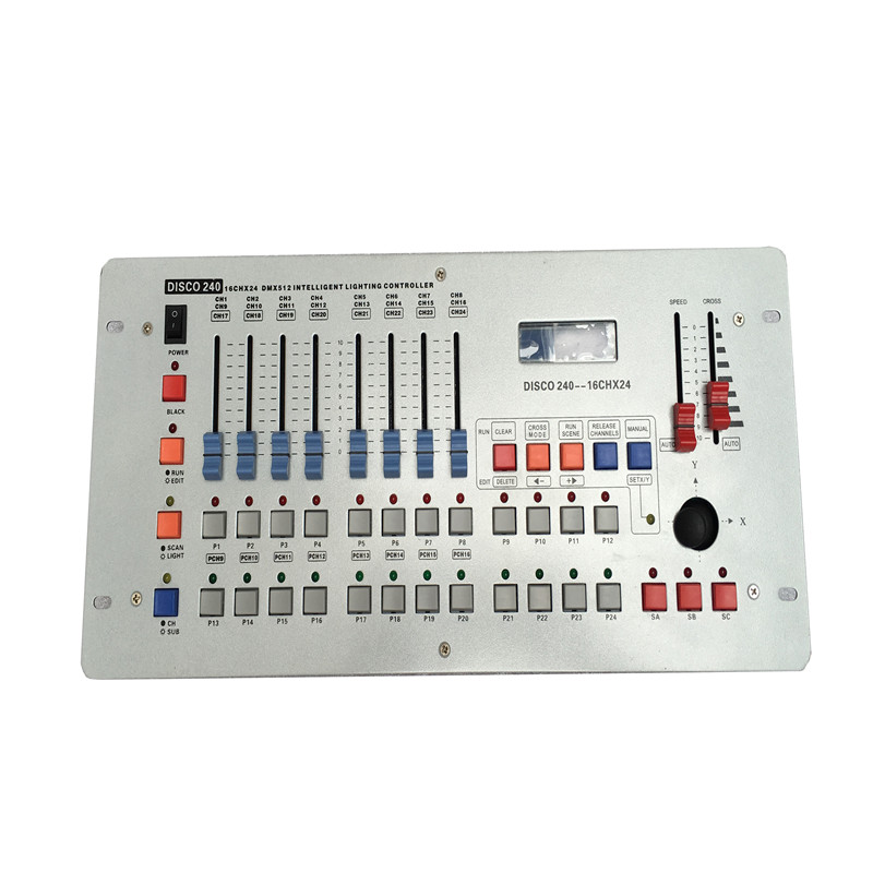 HOT Selling 24 Channels Disco240 DMX Controller For Disco Nightclub Party Bar DJ DMX Lighting Dmx Console Stage DJ Disco