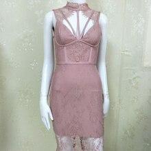 Высокое качество новое летнее женское платье оптом пыльное розовое Румяна розовое бежевое черное кружевное Бандажное платье+ костюм