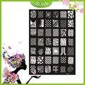 1 Unids Nuevo Diseño BQAN Acero Inoxidable Intercambiable Líneas/Flor de la Serie de Imágenes Nail Plate Estampación XY19