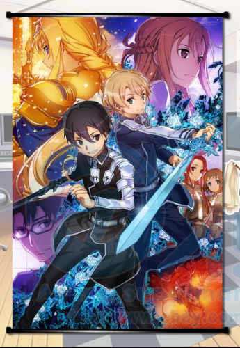 "Sword Art Online Posters Anime Silk Wall Poster 13x20 24x36/"" Bedroom Decor SAO"