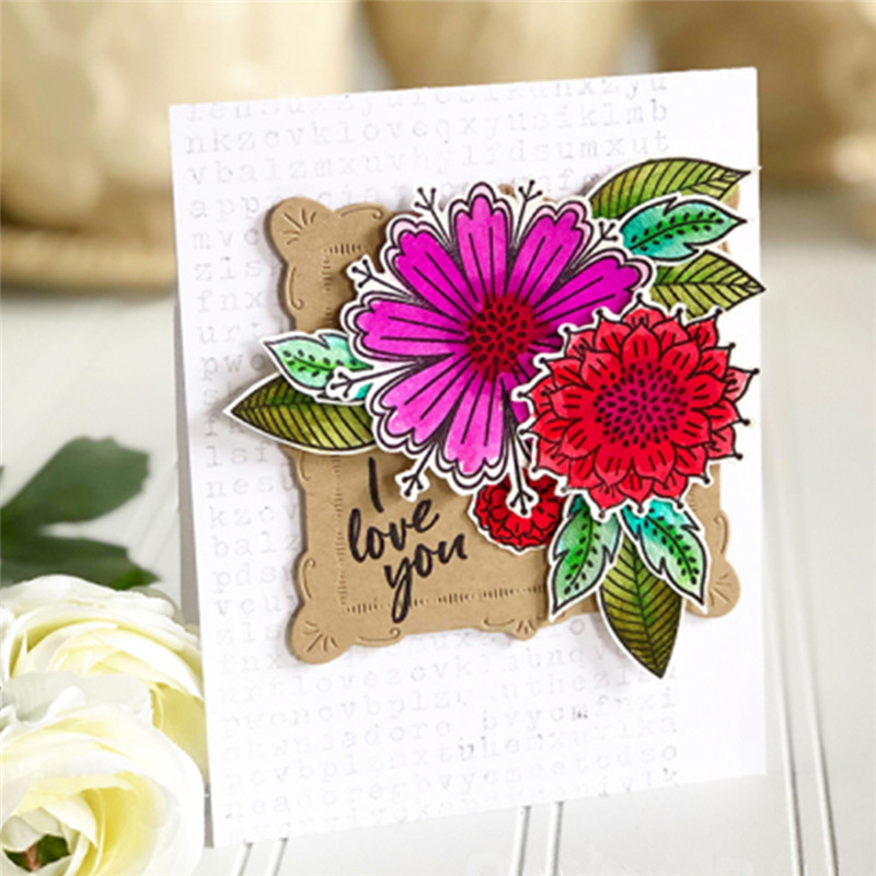 Eastshape Flowers Die and Stamps Metal Cutting Craft Dies Beautiful Garden Father 39 s Day Little Baby Scrapbooking for Card Making in Cutting Dies from Home amp Garden