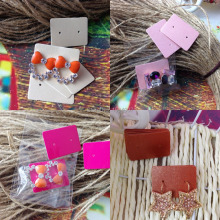 DIY Earring Card1 lot =250cards +250 opp bags Hand Made Earring Card Custom Logo MOQ: 1000 Earring Logo Printting Cost Extra