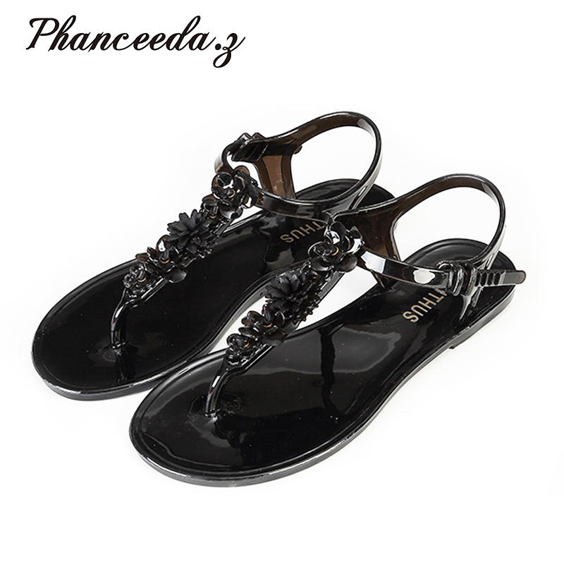 New 2017 Shoes Woman Sandals Lovely Jelly Shoes Flat Zapatos Mujer Sandals Summer Style Sandalias Free Shipping womans sandals hollow ladies sandals sandalias de mujer womens flat sandals summer 2016 zapatos mujer verano shoes woman