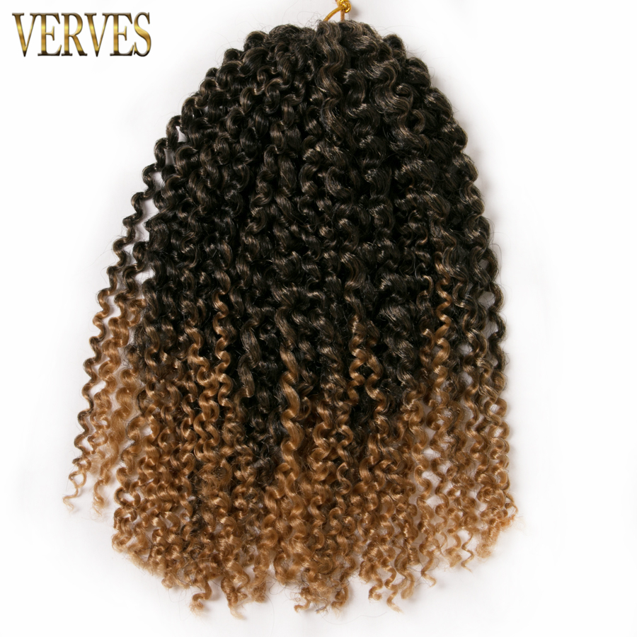 VERVES 6 pack crochet braids hair 60g/pack synthetic 12 inch