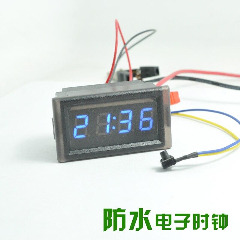Automotive electronic clock DI LED digital tube vehicle clock embedded waterproof luminous clock clock