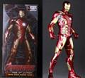 """Juguetes locos Iron Man Avengers Edad de Ultron Marca XLIII MK 43 Acción PVC Figura de Colección Modelo de Juguete 12 """"30 cm KT1934"""
