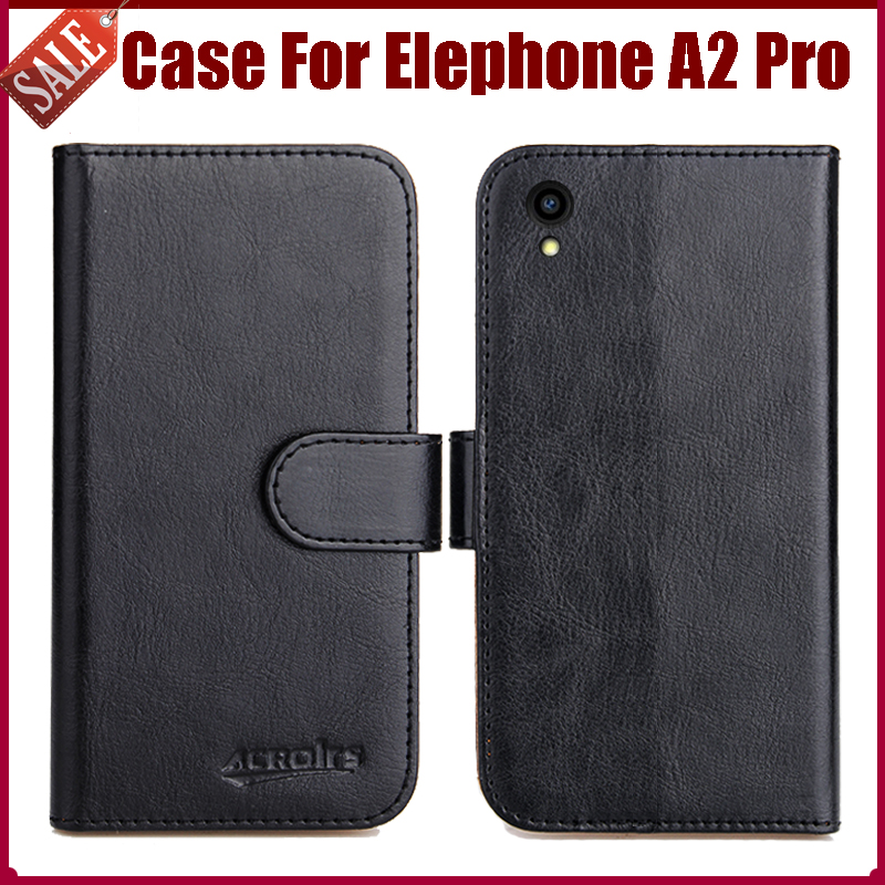 Hot Sale! Elephone A2 Pro Case New Arrival 6 Colors High Quality Flip Leather Protective Phone Cover For Elephone A2 Pro Case