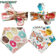 Nya nyfödda Baby Headband Cartoon Hairbands Bow Knot Spädbarn Barn Barn Turban Boys Girls Hair Band Foto Props Tillbehör