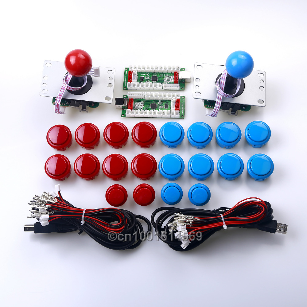 Arcade Joystick Arcade Games DIY Kit 4 In 1 USB Board + Arcade Push Button With Micro Switch + Start Button For PS2 / PS3 Games classical games game elf 750 in 1 board with 412 games card for cga