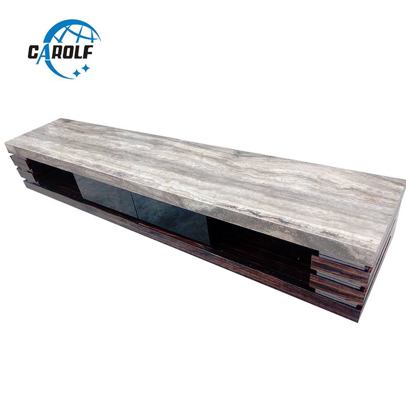 New Products Online Selling Living Room Furniture Modern TV Stand Wooden Tv Table With Gray Marble Top