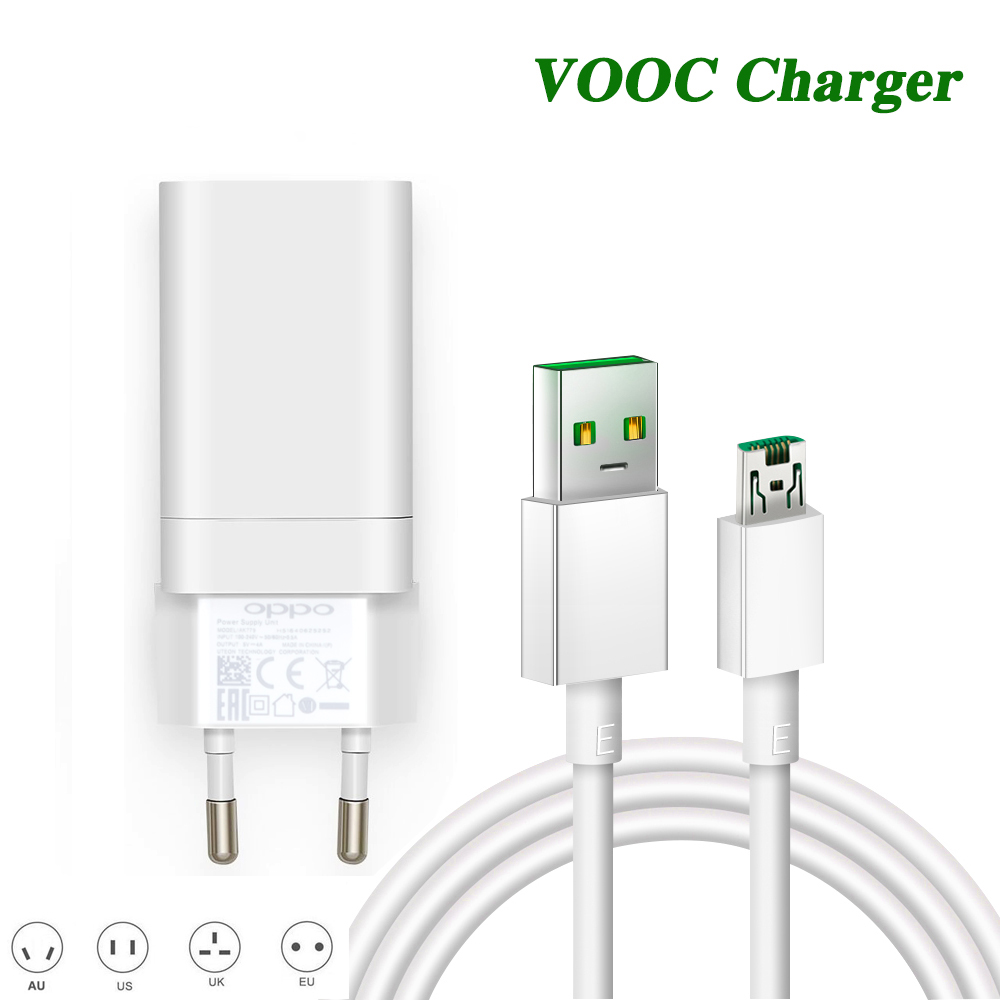 5V 4A Fast VOOC charger For oppo R9 R9S R11 R11S R15 R15S PLUS Mobile phone VOOC charger cable