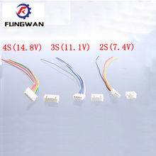 10 Pairs 2S1P 3S1P 4S1P 6S1P JST XH RC lipo Battery Balance Charger Plug Line with terminal line(China)