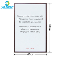 XINDI 60 90cm 10 Colors MDF Frame Magnetic Drawing White Board Office Plus Size Message Dry