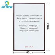 Белая доска xindi 60*90 см 10 цветов рамка mdf магнитная для