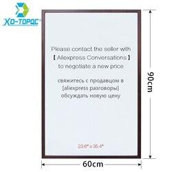 Xdi 60*90cm pizarra 10 colores MDF marco magnético pizarra blanca Oficina Mensaje de talla grande borrado en seco salida de fábrica WB27