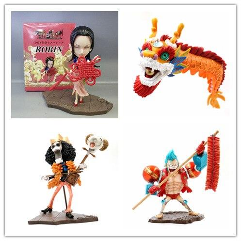 Anime One Piece Nico Robin BROOK Franky dragão-dança do leão Figura Toy PVC Action Figure Modelo Brinquedos Decoração de Aniversário presente