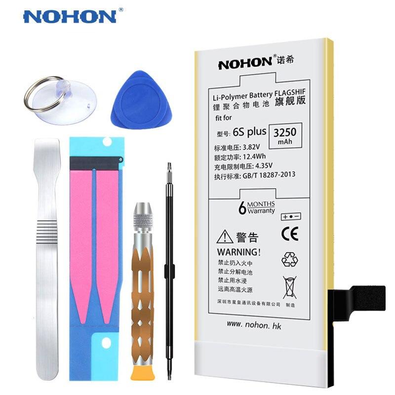 imágenes para 2017 Originales NOHON Batería Para el iphone 6 S Plus 6 SPlus 6 S Más El Reemplazo de Las Baterías de Li-ion 3250 mAh Bateria Paquete al por menor