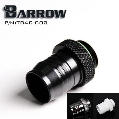 Barrow Black G1 / 4 'sikkə növü 1/2 (ID12.7MM) su borusu pagoda tipli bağlayıcı kompüter su soyuducu aksesuarları TB4C-C02