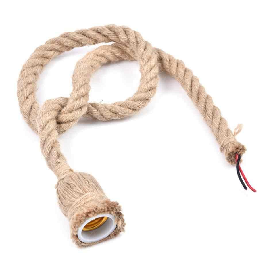 1 шт. винтажный веревочный подвесной светильник базовый держатель потолочного светильника Люстра для зала креативный промышленный без лампы