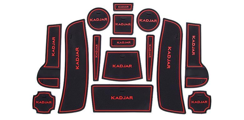 Non-slip Interior Cup Mat Anti Slip Door Pad For Renault Kadjar 2015-2018 2019, Auto Accessories