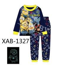 1d30f3d0a7821 En gros Garçons Bleu Minions lot de Pyjamas 2018 Enfants Lumière de Nuit  Vêtements Enfants Printemps