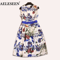 שמלות הדפסת 2017 נשים האופנה קיץ Vintage פניקס מקרית שמלות ללא שרוולים טנק שמלות אלגנטיות הדפסה תלת ממדית