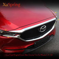 For Mazda CX 5 CX5 2017 2018 2019 Chrome Front Grille Grill Hood Engine Cover Trim ABS Exterior decoration Car Accessories