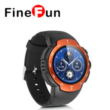 FineFun New Smartwatch 3G Android 5.1 MTK6580 Phone Watch Camera WCDMA GSM Smart Watch with Email GPS WIFI Heart Rate Monitor