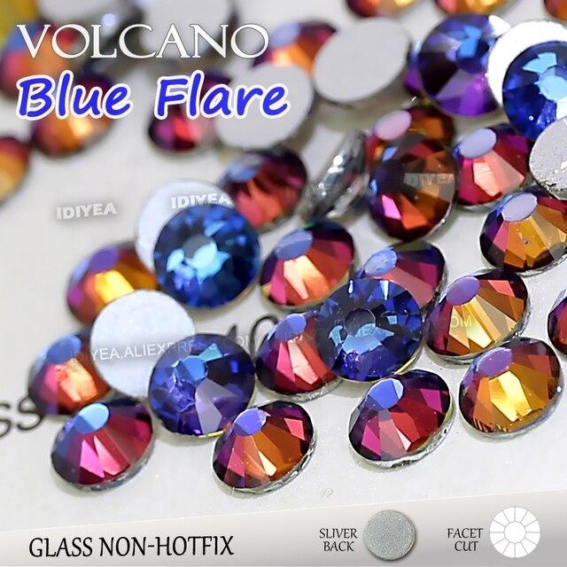 Volcano Blue flare SS3 SS4 SS5 SS6 SS10 SS20 SS30 to DIY Nail Art  Rhinestones Glitter Crystals Jewelry Non HotFix stone Decor dc099030316a
