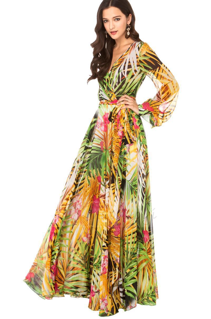 22ae226195f Long Flowy Maxi Dresses With Sleeves - Data Dynamic AG