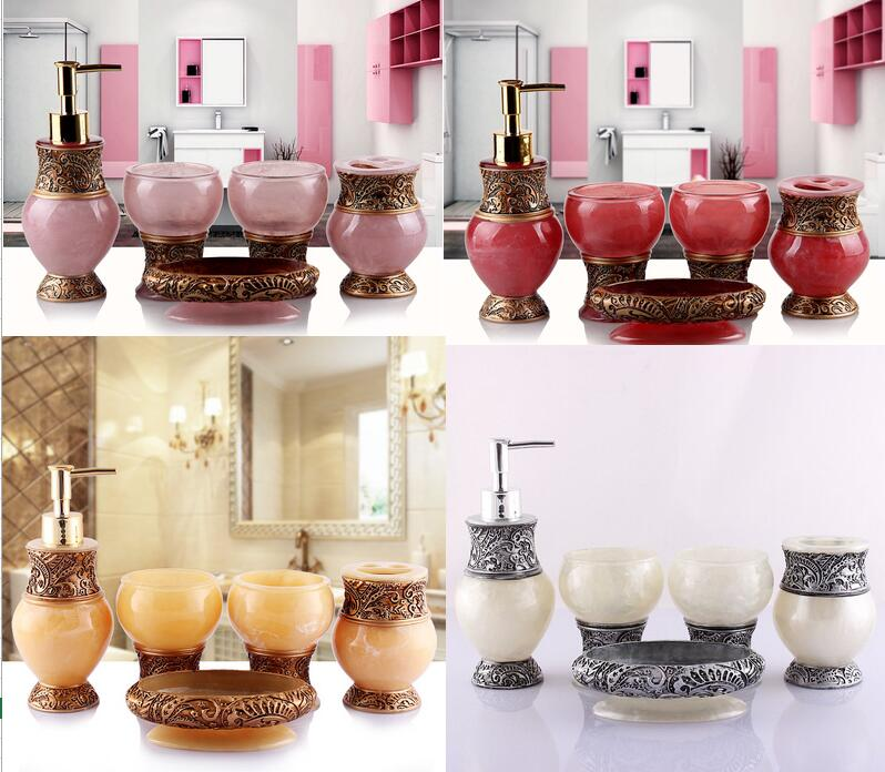 High quality bathroom accessories elegant 5 pieces for Quality bathroom fittings