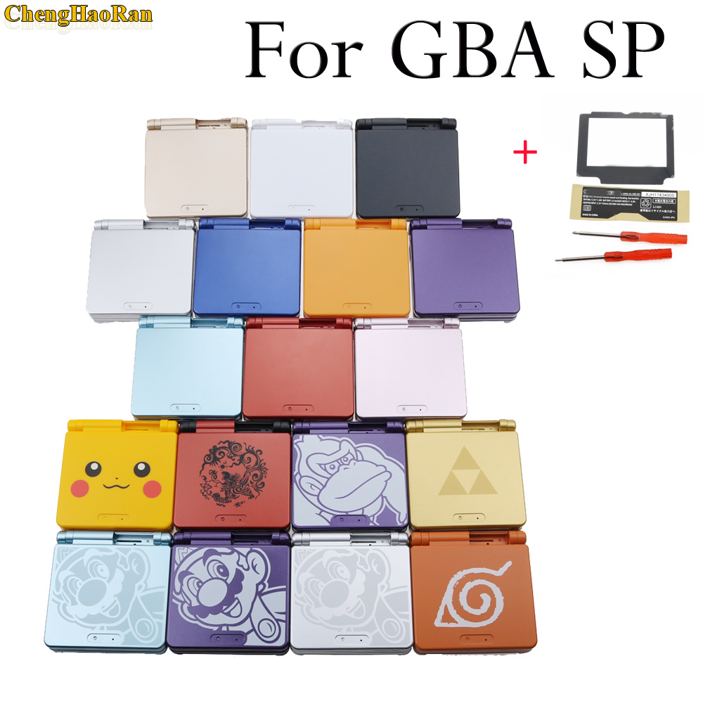 ChengHaoRan 20models available 1set Full Housing Shell Case Cover Replacement for GBA SP Gameboy Advance SP-in Cases from Consumer Electronics