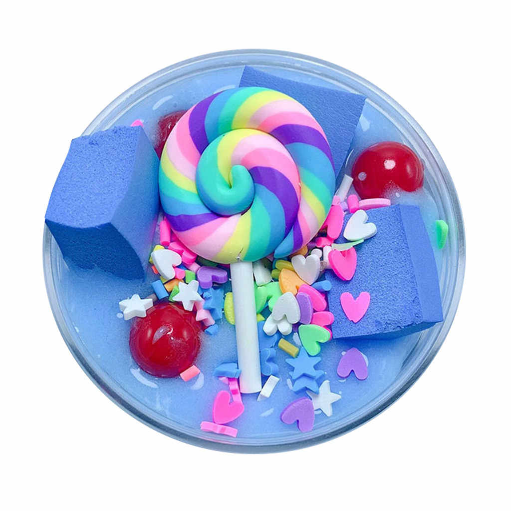 High quality Fluffy Cute Lollipop Butter Slime DIY Stress Relief Children Kid Funny Toy Gift hot 2019 W507