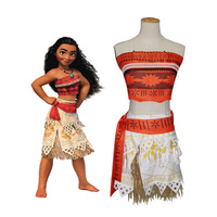 Movie Princess Moana Costume Christmas Halloween Costume For Girls Moana Dress Party Cosplay Costume Disfraces Canival