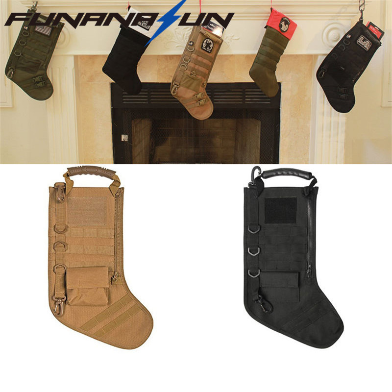 Tactical Molle Christmas Stocking Bag Military Ammo Bullet Pouch Dump Drop Magazine Storage Bag military molle admin front vest ammo storage pouch magazine utility belt waist bag for hunting shooting paintball cf game