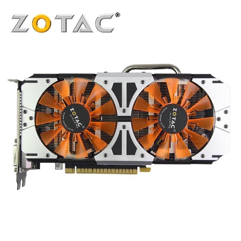 Original ZOTAC Video Card GPU GTX 750Ti 2GB 128Bit GDDR5 Graphics Cards Map for nVIDIA GeForce GTX750 Ti Thunderbolt 2GD5 yeston geforce gt 1030 gpu 2gb gddr5 64 bit gaming desktop computer pc video graphics cards support