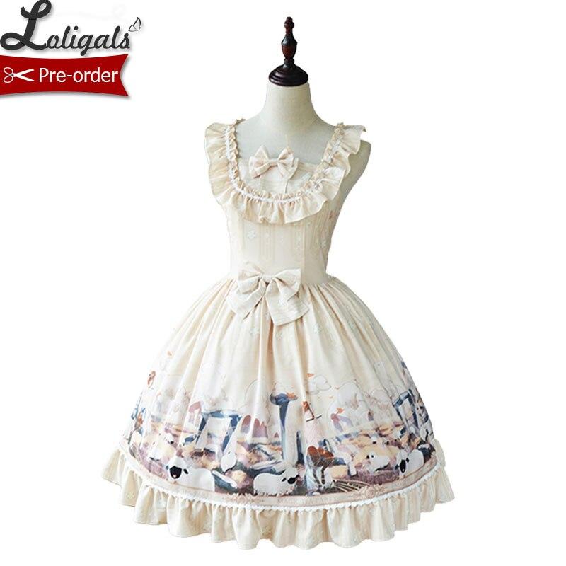 Herdsman의 오후 ~ sweet printed casual lolita dress by magic tea party ~ 예약 주문-에서드레스부터 여성 의류 의  그룹 1
