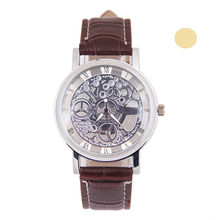 Transparent Blue Hands Skeleton Full Golden Designer Watch Men Watches Top Brand Luxury Mechanical Watch Clock Wristwatch(China)