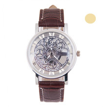 Transparent Blue Hands Skeleton Full Golden Designer Watch Men Watches Top Brand Luxury Mechanical Watch Clock Wristwatch