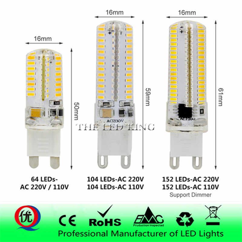 NOUVEAU g9 LED 48 64 LED S 102 LED S 152 LED S AC 220 V 230 V 240 V G9 lampe LED ampoule SMD 3014 LED g9 lumière Remplacer 30-100 W lampe halogène