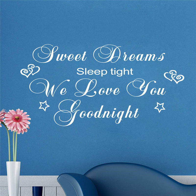 Sweet Dreams We Love You Good Night Wall Decal Vinyl Wall Art