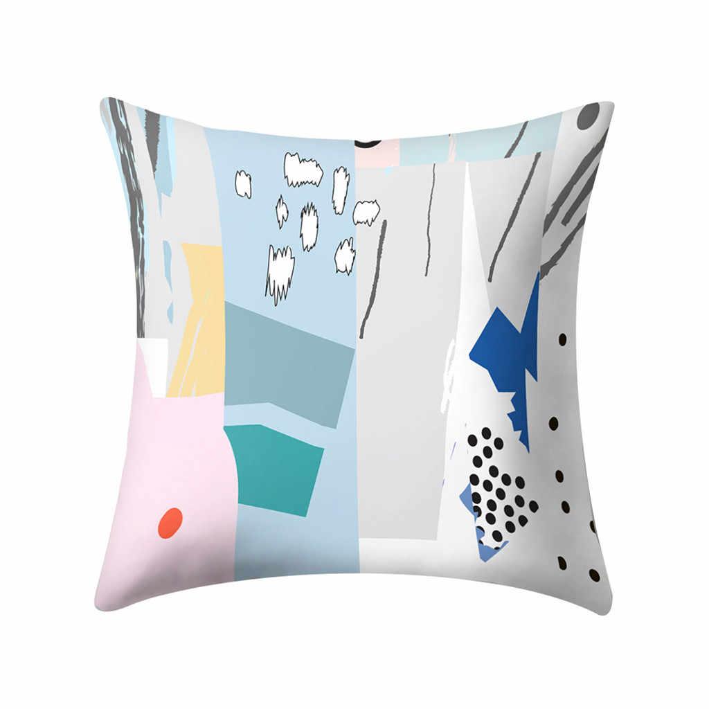 Teste Padrão geométrico Design Simples Decorativo Descanso de Lance Casos Branco Capas de almofadas para o Sofá de Casa de Carro Assento Do Sofá Poltrona 45x45 cm