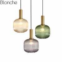 Vintage Pendant Lights Stained Glass Hanging Lamp Loft Industrial Decor Home Fixtures for Living Room Kitchen Lighitng Luminaire