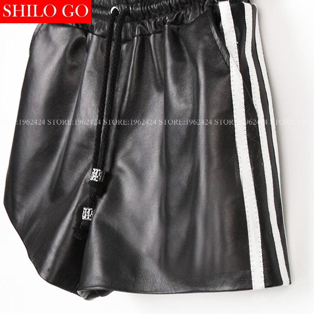 Cinturón Otoño De Mujeres Elástico Cordón 3xl E Alta Metal Piel Moda Cuero Cortos Calidad Verticales Pantalones Oveja Invierno Negro Rayas qEPwgxEr