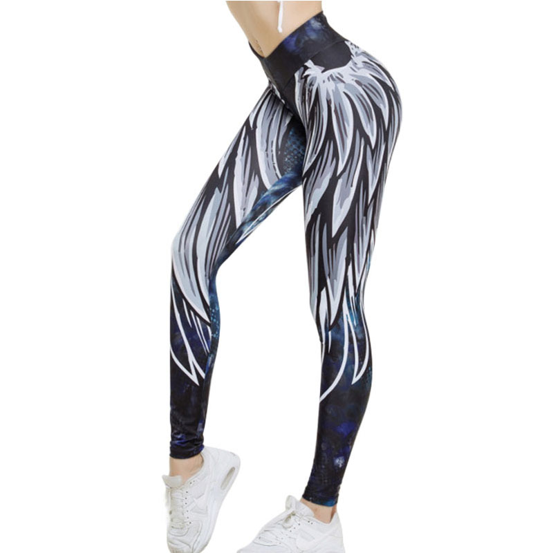 Harajuku 3D Wing Leggings For Women 2019 Push Up Sporting Fitness Legging Athleisure Bodybuilding Sexy Women's Pants