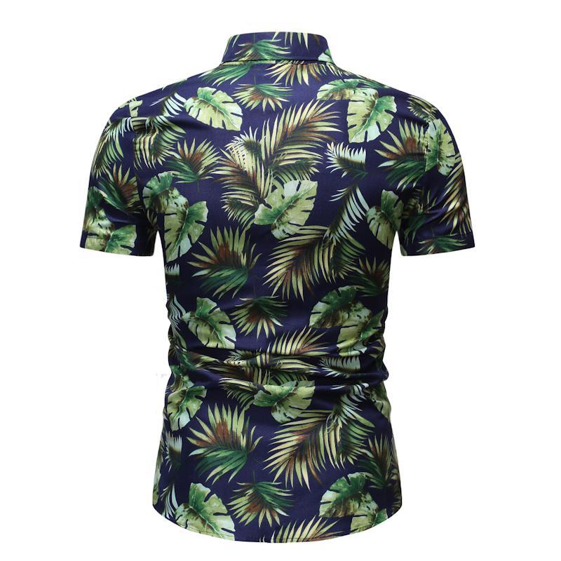 Hawaiian Style Summer Blouse Men Short Sleeve Men's Casual Floral Shirt Social Floral Flower Men's Shirt Dress New