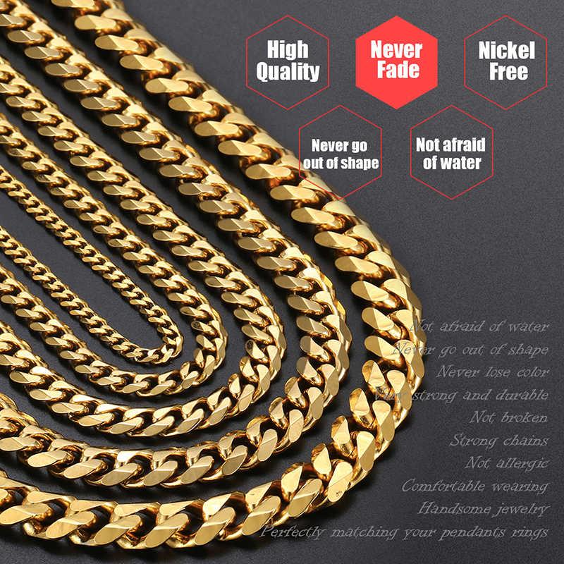 אישית נשים של גברים של צמיד נירוסטה קובני קישור שרשרת צמידי זהב כסף צבע אופנה סיטונאי תכשיטי KBB10