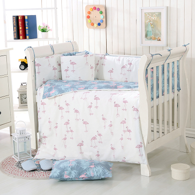 US $66.58 21% OFF|7 Pc Cot bedding set for newborn babies Infant Room Kids  Baby Bedroom Set Nursery bumper quilt, sheets,pillow-in Bedding Sets from  ...